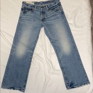 Vintage A&F Straight Light Wash Jeans